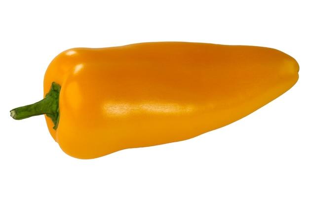 Close-up do pimentão amarelo isolado no fundo branco
