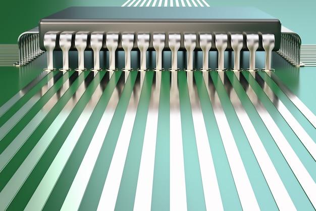 Close-up do processador.