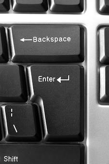 Close-up do teclado do computador, conceito do negócio