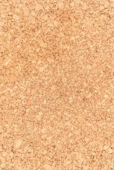 Close up e textura da superfície de madeira da placa de cortiça, produto natural industrial