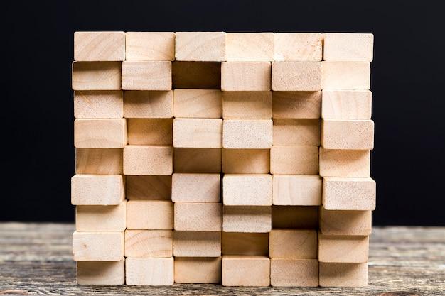 Close-up em barras de madeira