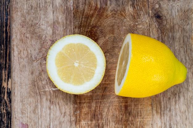 Close-up em limão amarelo