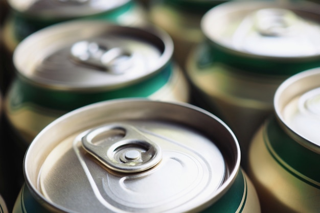 Close up, lata de bebida de alumínio