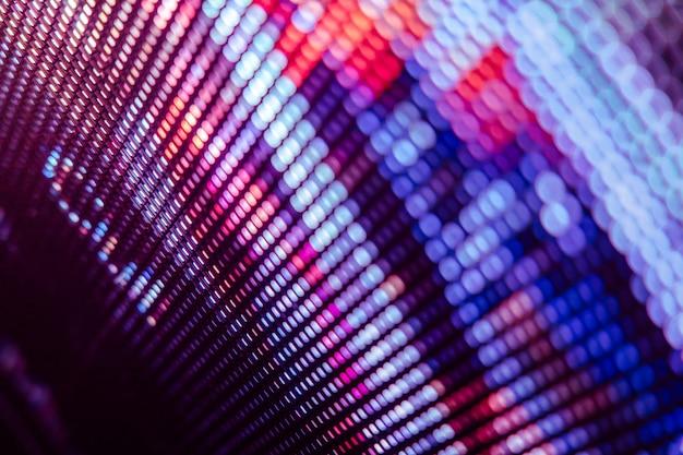 Close-up led tela borrada