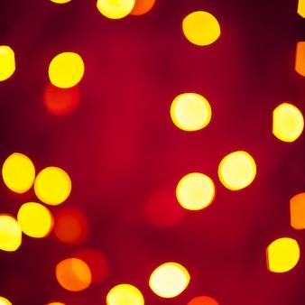 Close-up, luzes amarelas, ligado, vermelho