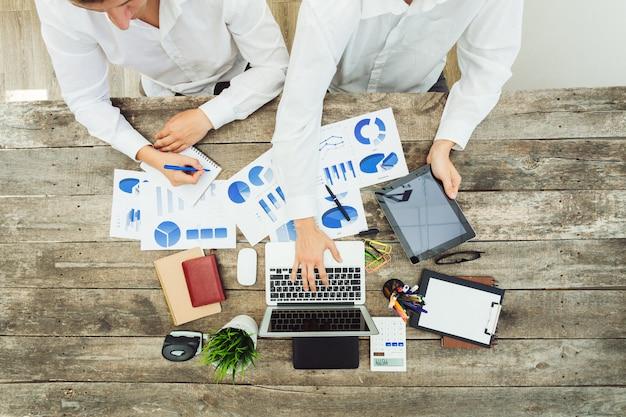 Close-up mãos, de, reunião negócio