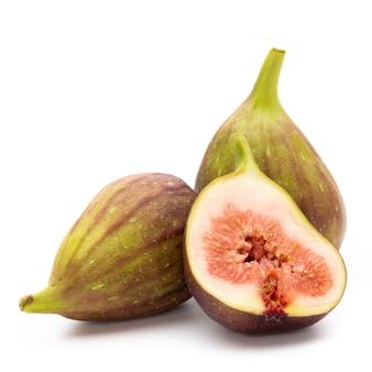 Close-up na pilha de figos frutas