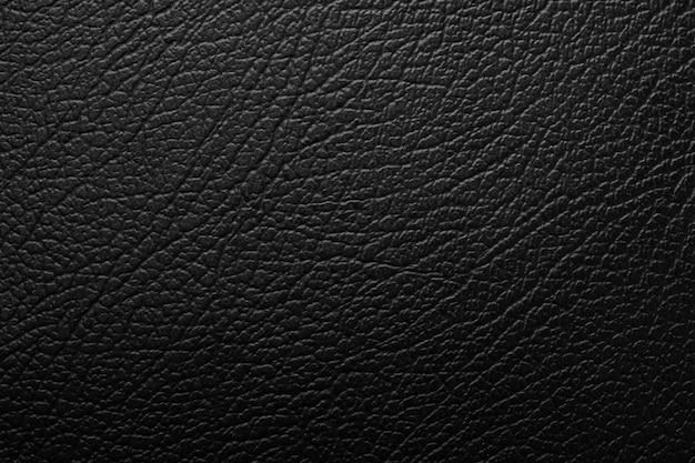 Close-up na textura de couro preto