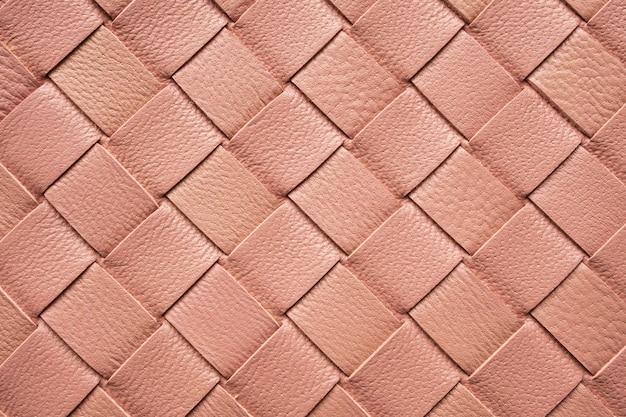 Close-up na textura de couro tecido