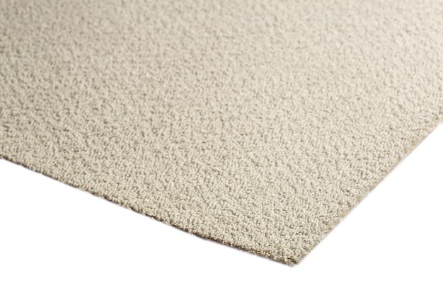 Close-up na textura do tapete cinza isolada