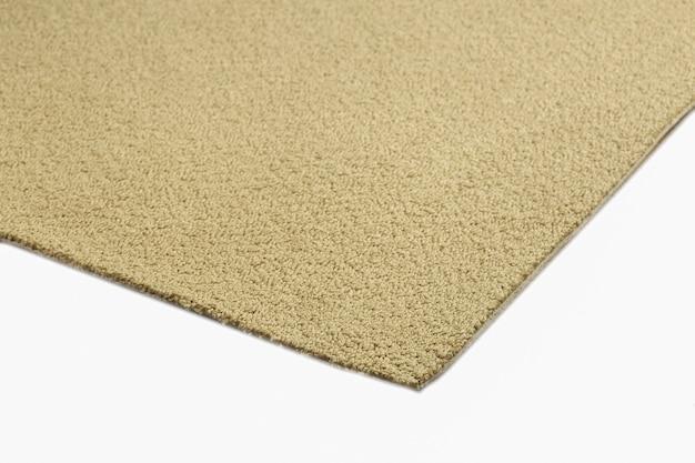 Close-up na textura do tapete marrom isolada
