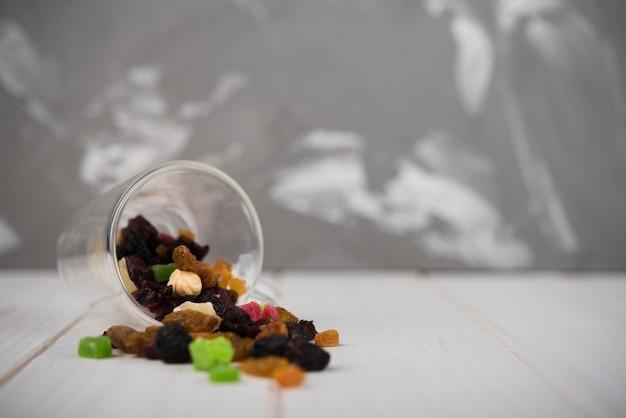 Close-up nozes com doces