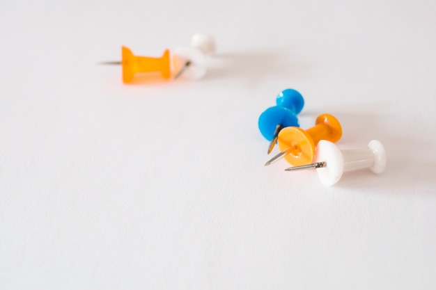 Close-up of thumbtacks