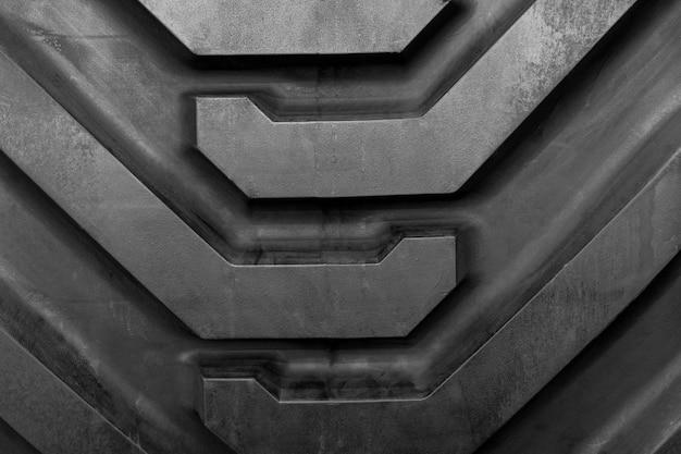 Close-up, padrão, e, textura, de, grande, pneu, de, trator, car