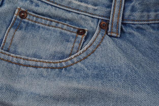 Close-up, parte, calças brim, calças, bolsos