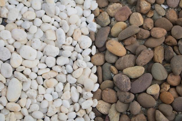 Close-up pedras de fundo no parque, sobrecarga ou vista superior