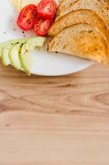 Close-up, pequeno almoço, prato