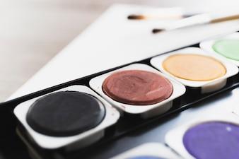 Close-up, pintura, caixa