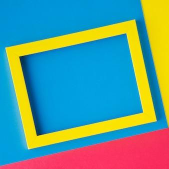 Close-up quadro amarelo minimalista