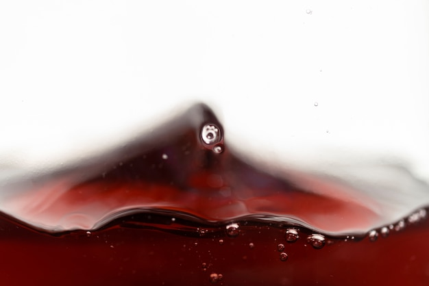 Close-up, respingue, de, vinho tinto