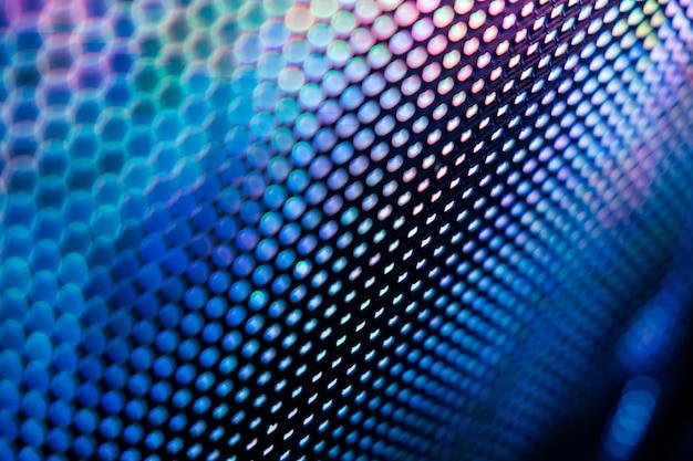 Close-up tela borrada led. abstrato ideal para o projeto.