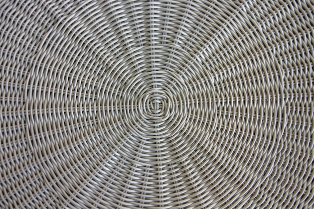 Close-up textura de uma cadeira feita de fio de rattan