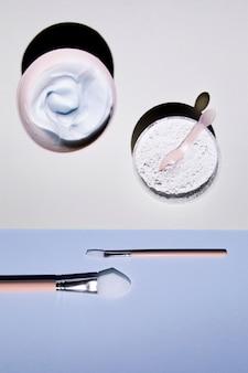 Close-up, tiro, com, manteiga corpo, e, bruses
