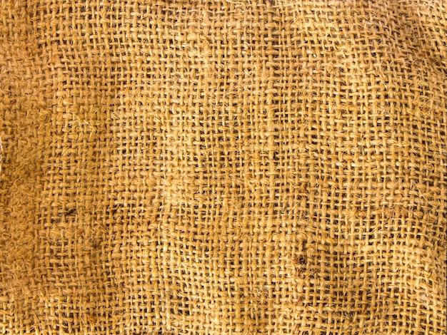 Close-up velha textura de fundo de saco