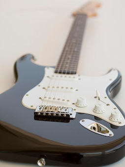 Close-up vista da bela guitarra
