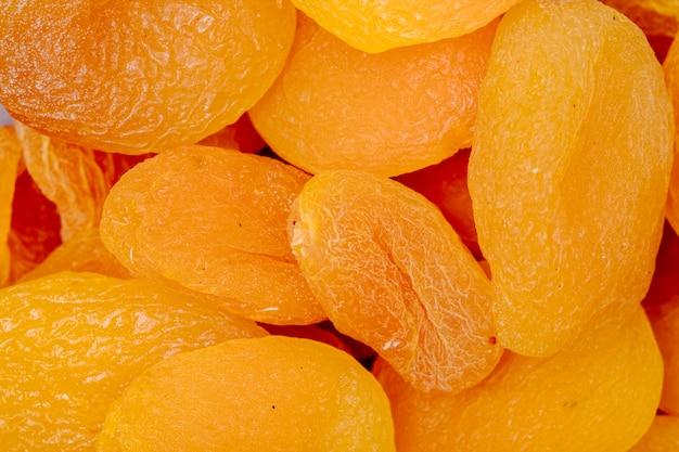 Close-up vista de damascos secos doces