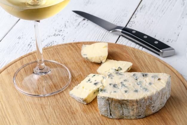 Close-up vista de queijo dorblu