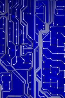 Close-up vista de um circuito de teclado impresso.