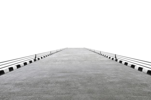 Close-up vista de uma rua isolada sobre fundo branco