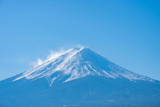 Close-up vista do monte fuji em yamanachi, japão.