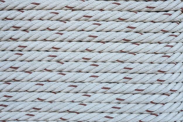 Close-up vista do padrão de cordas.
