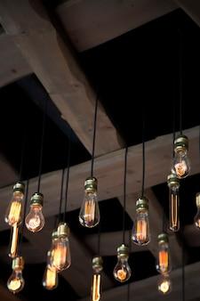 Close-up vista para a lâmpada