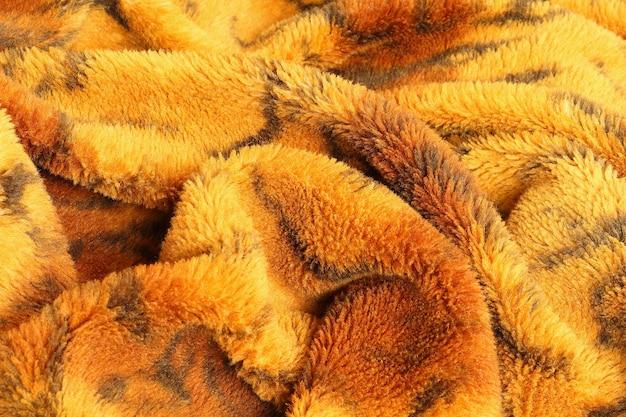 Close-up vista superior do cobertor bagunçado de rugas