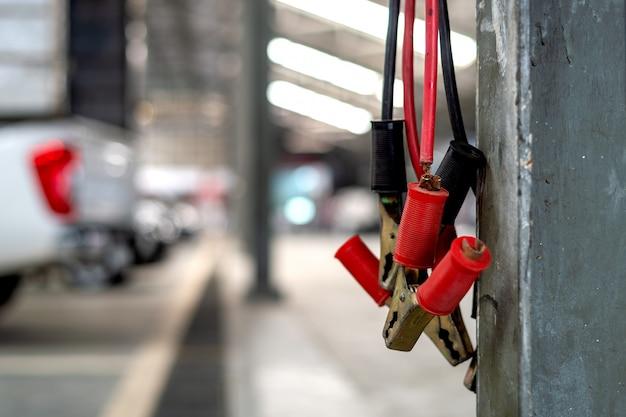 Closeup antigos cabos de ligação