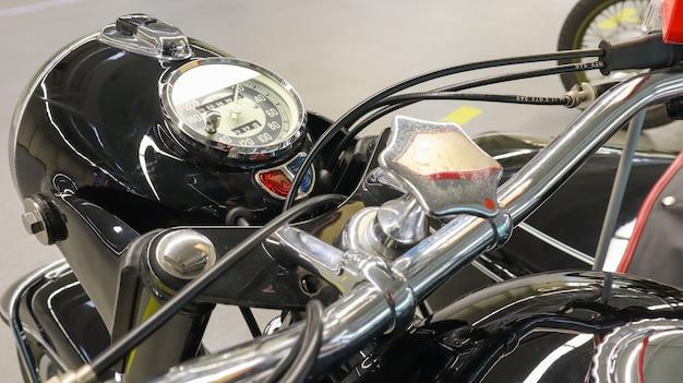 Closeup clássico de motocicleta