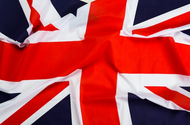 Closeup da bandeira union jack