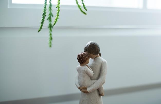 Closeup da figura da maternidade