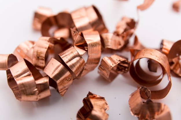 Closeup da mola metálica