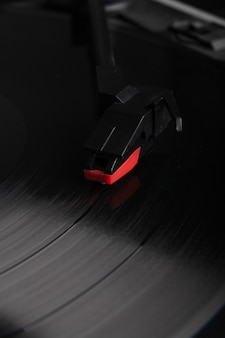 Closeup de agulha de toca-discos