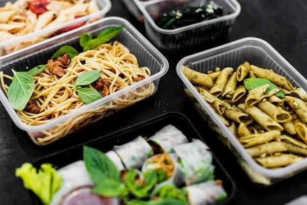Closeup, de, alimento saudável