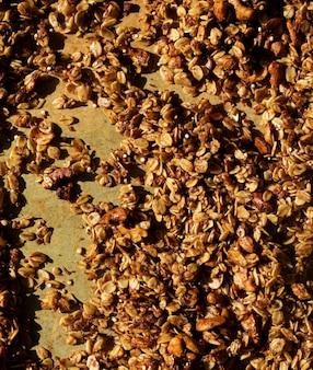 Closeup de amêndoas e nozes