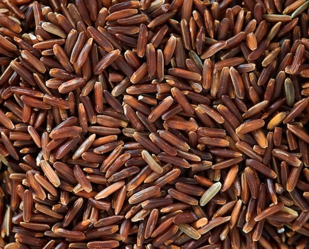 Closeup, de, arroz marrom, textura