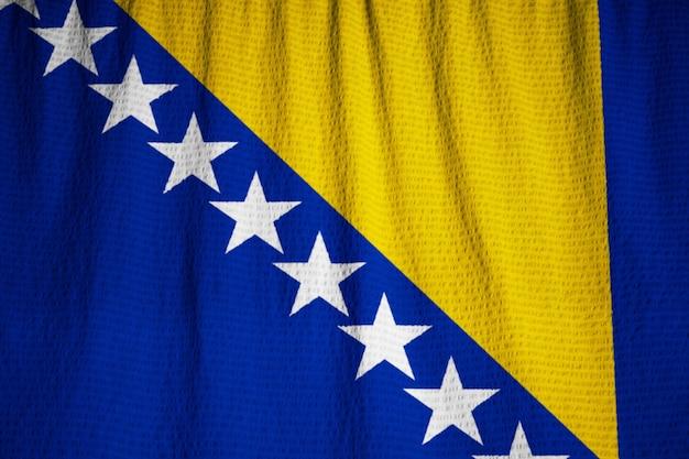 Closeup, de, babado, bósnia herzegovina, bandeira