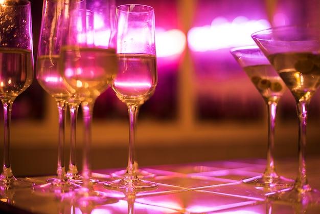 Closeup de bebidas de festa