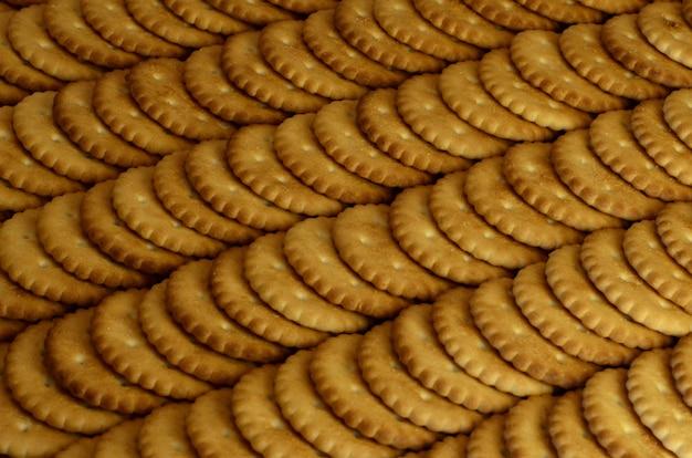 Closeup de biscoitos salgados