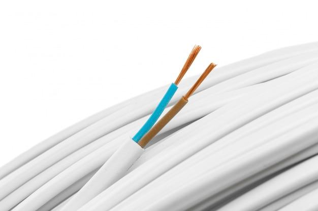 Closeup de cabos elétricos